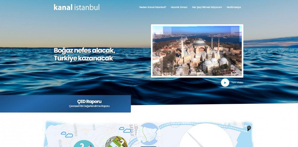 Kanal İstanbul  internet sitesi açıldı #1