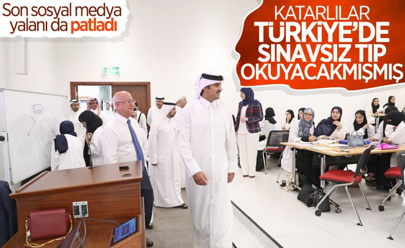 Katar Türkiye'de sınavsız öğrenci okutacak iddiası yalan çıktı