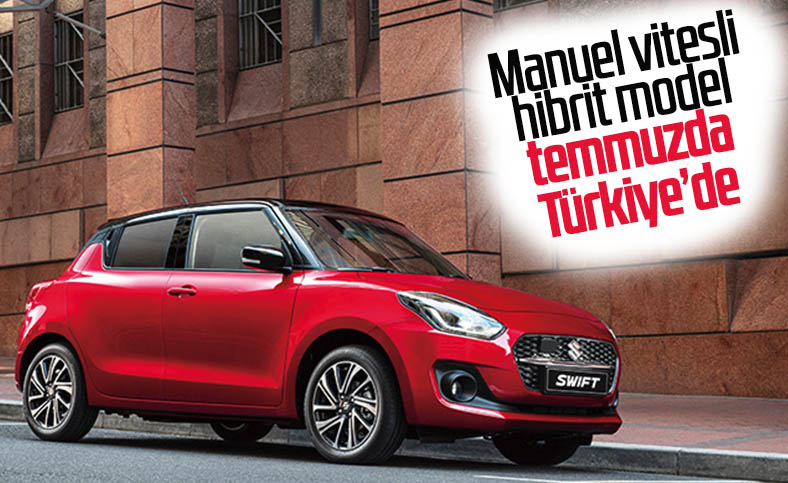 Manuel vitesli Suzuki Swift Hibrit temmuzda Türkiye'de