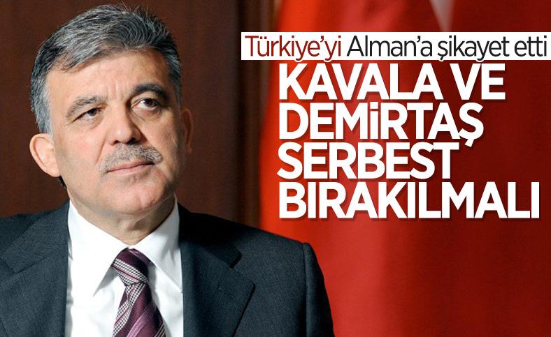 Abdullah Gül: AİHM'e göre Osman Kavala ve Selahattin Demirtaş serbest bırakılmalı