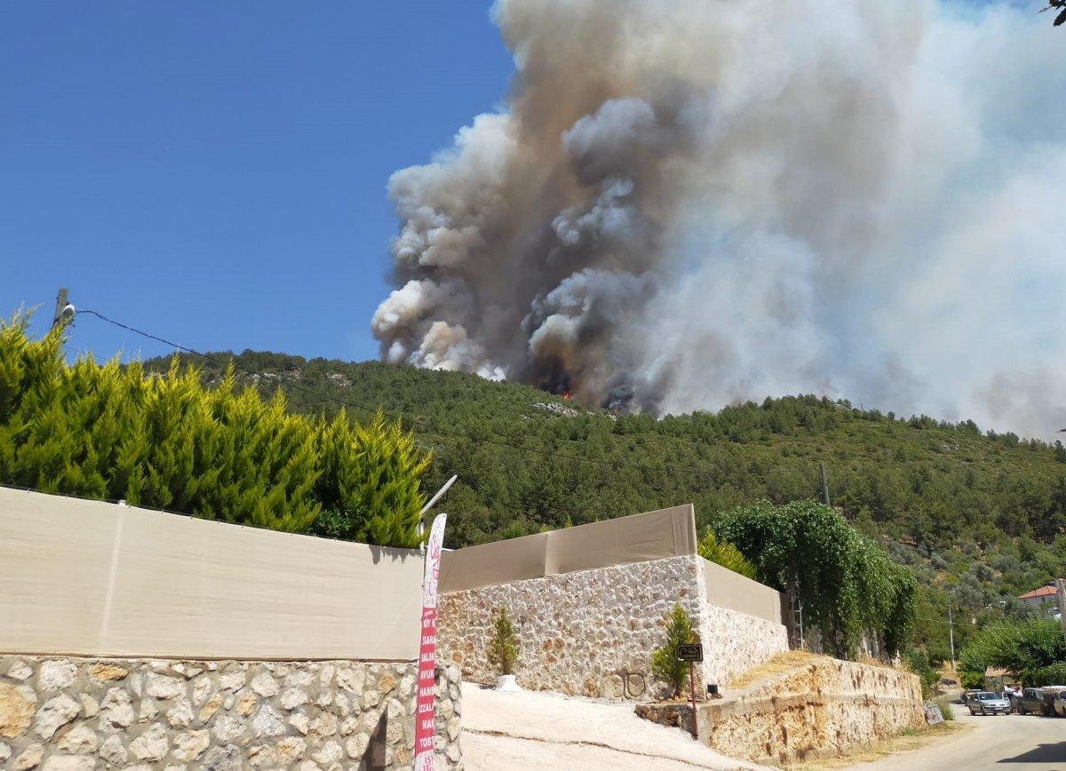 Kaş ta orman yangını çıktı #5