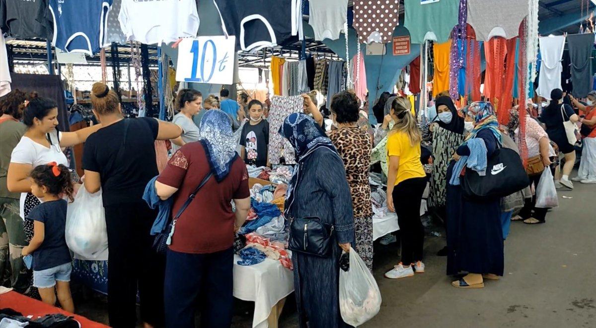 Edirne'de, Bulgar vatandaşlarının alışveriş yoğunluğu kamerada #8