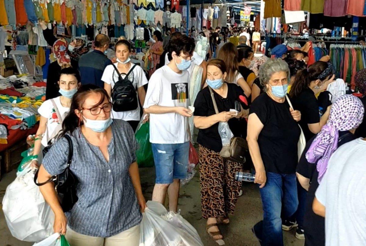 Edirne'de, Bulgar vatandaşlarının alışveriş yoğunluğu kamerada #9