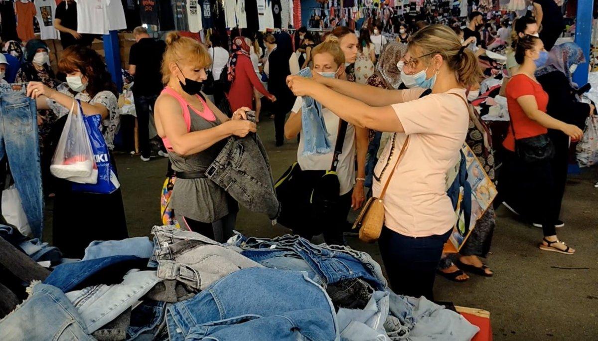 Edirne'de, Bulgar vatandaşlarının alışveriş yoğunluğu kamerada #5
