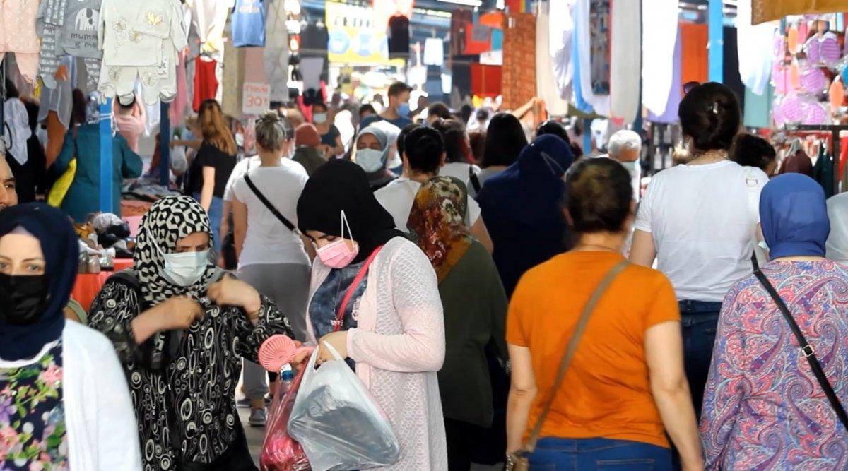 Edirne'de, Bulgar vatandaşlarının alışveriş yoğunluğu kamerada #4