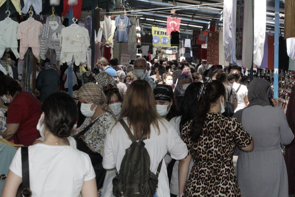 Edirne'de, Bulgar vatandaşlarının alışveriş yoğunluğu kamerada #3