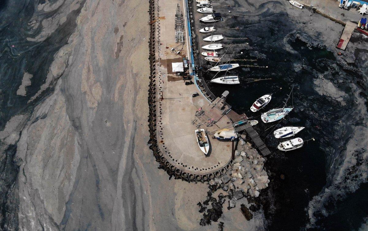 İstanbul daki deniz salyası havadan görüntülendi #4