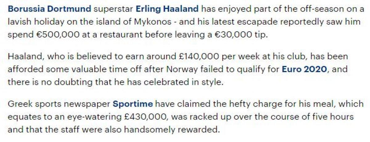 Erling Haaland Yunanistan tatilinde para saçtı #2