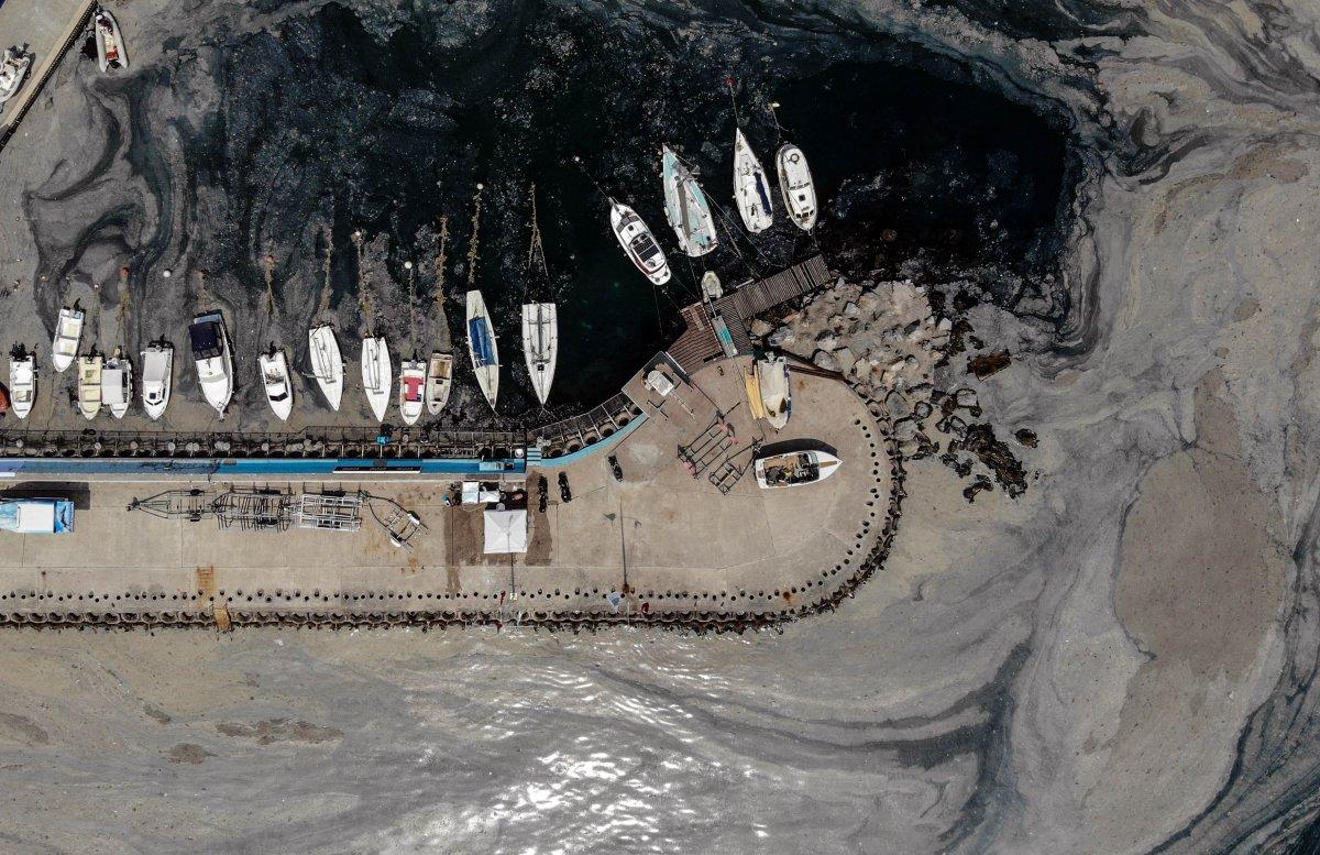 İstanbul daki deniz salyası havadan görüntülendi #3