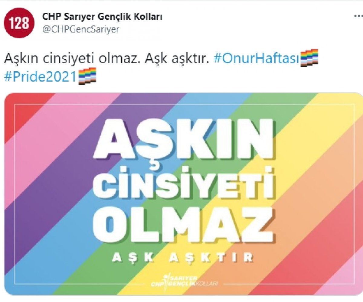 CHP den LGBT lilere bir destek daha  #1