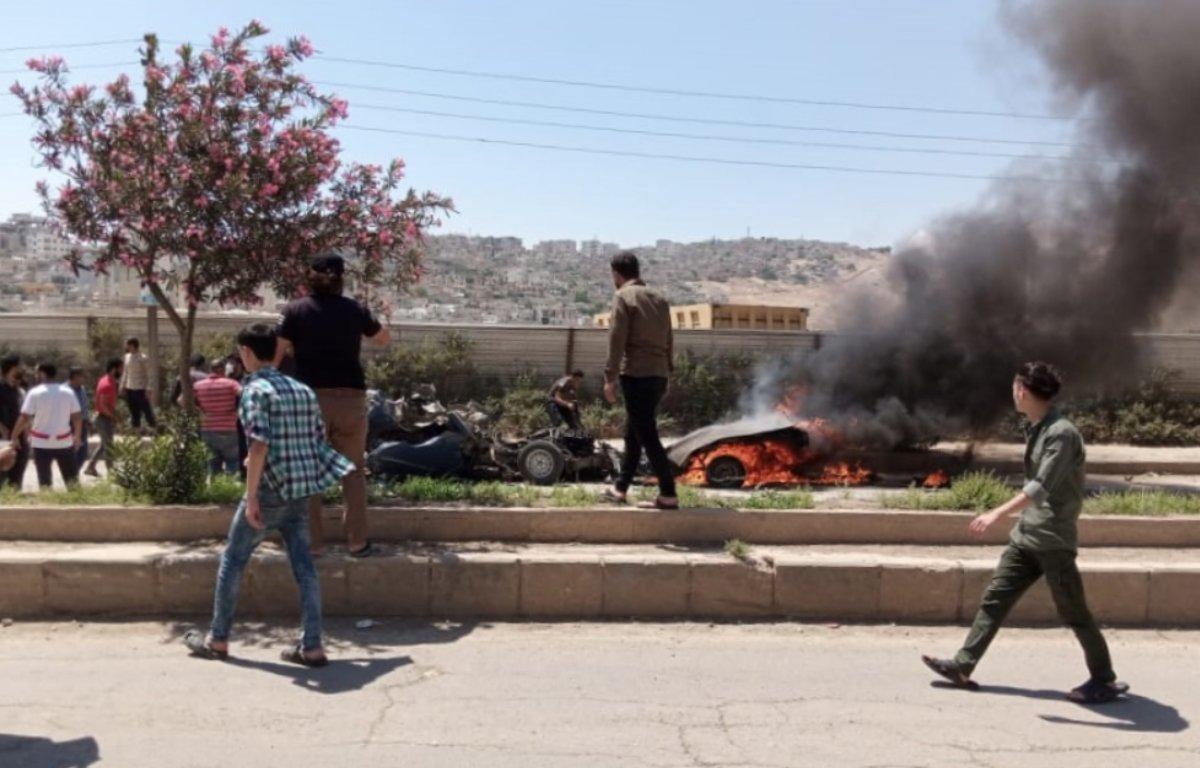 Afrin'de bombalı araç sivilleri hedef aldı  #2