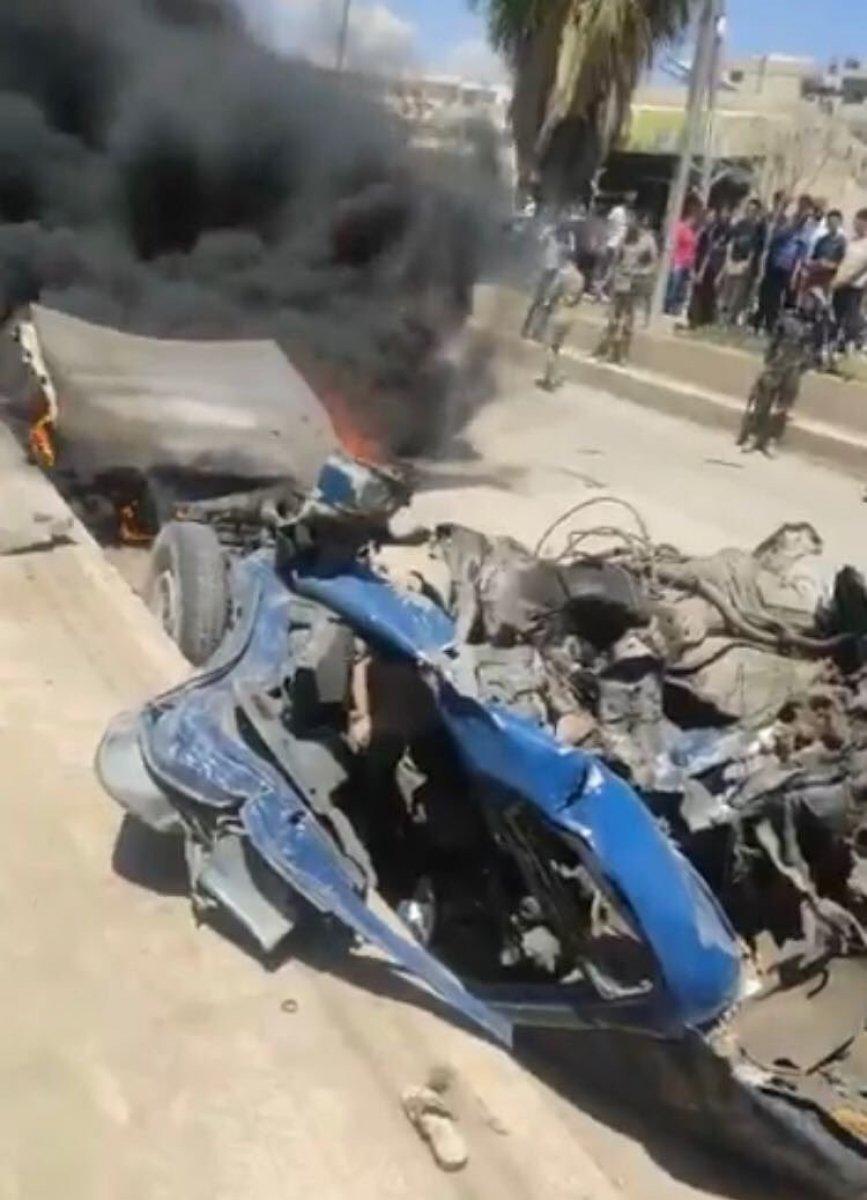 Afrin'de bombalı araç sivilleri hedef aldı  #3
