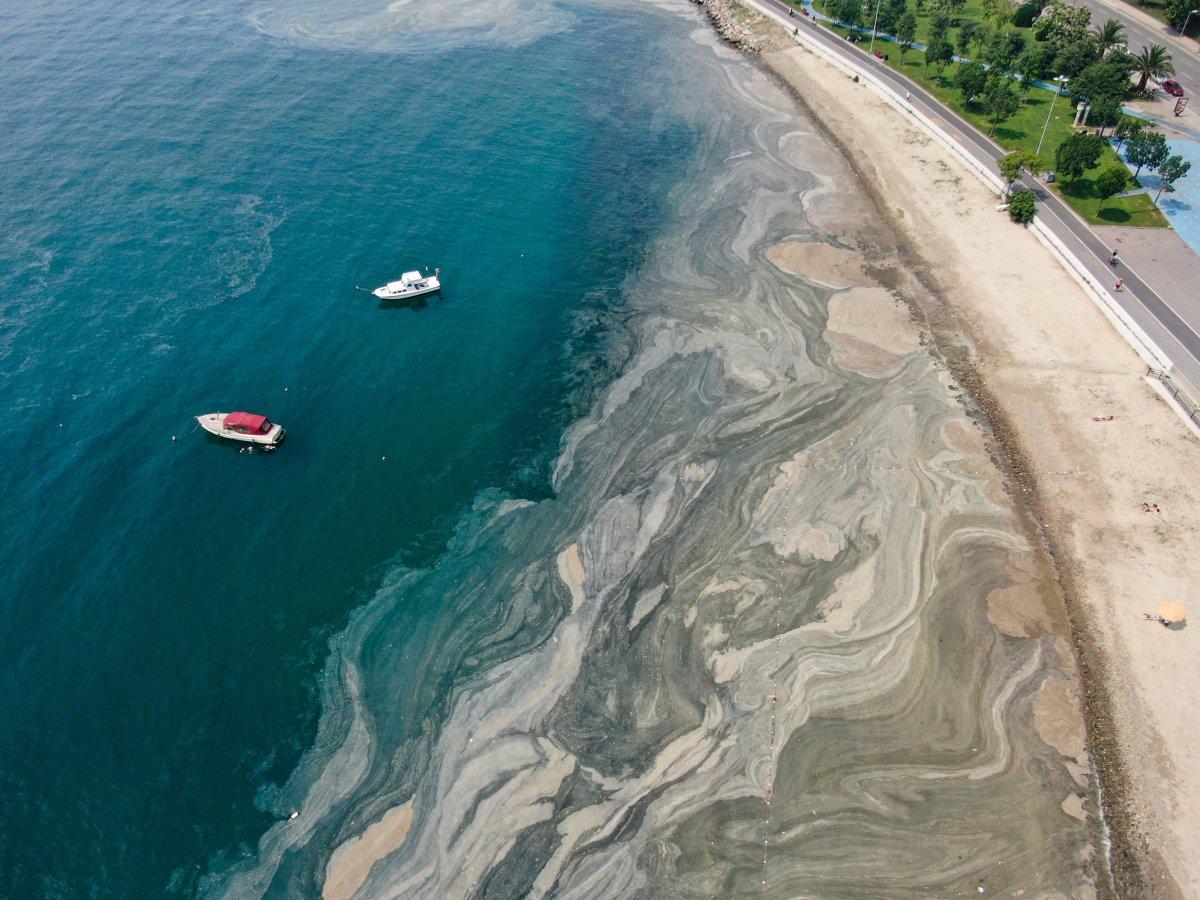 İstanbul daki deniz salyası havadan görüntülendi #6