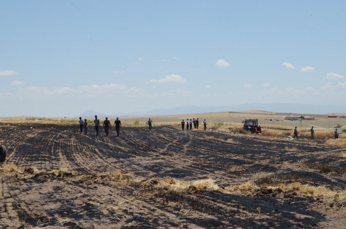 Aksaray da arpa ekili alan yandı  #8
