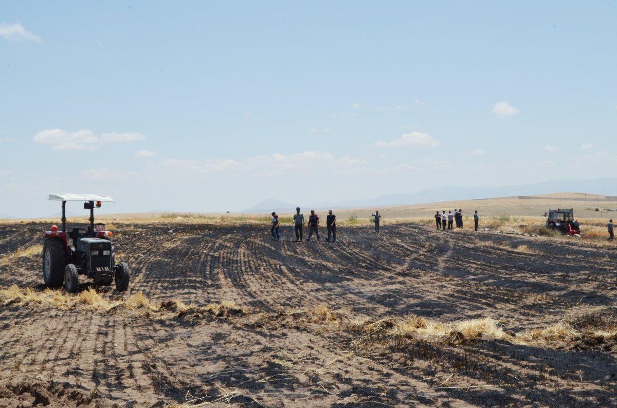 Aksaray da arpa ekili alan yandı  #7