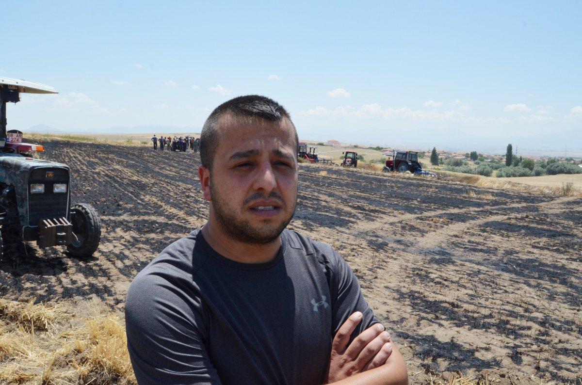 Aksaray da arpa ekili alan yandı  #3