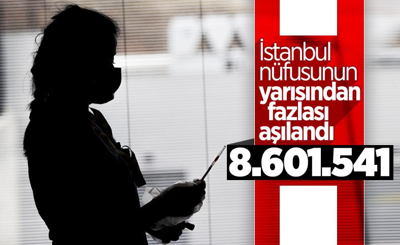 İstanbul'da 8 milyon 601 bin 541 kişi aşılandı