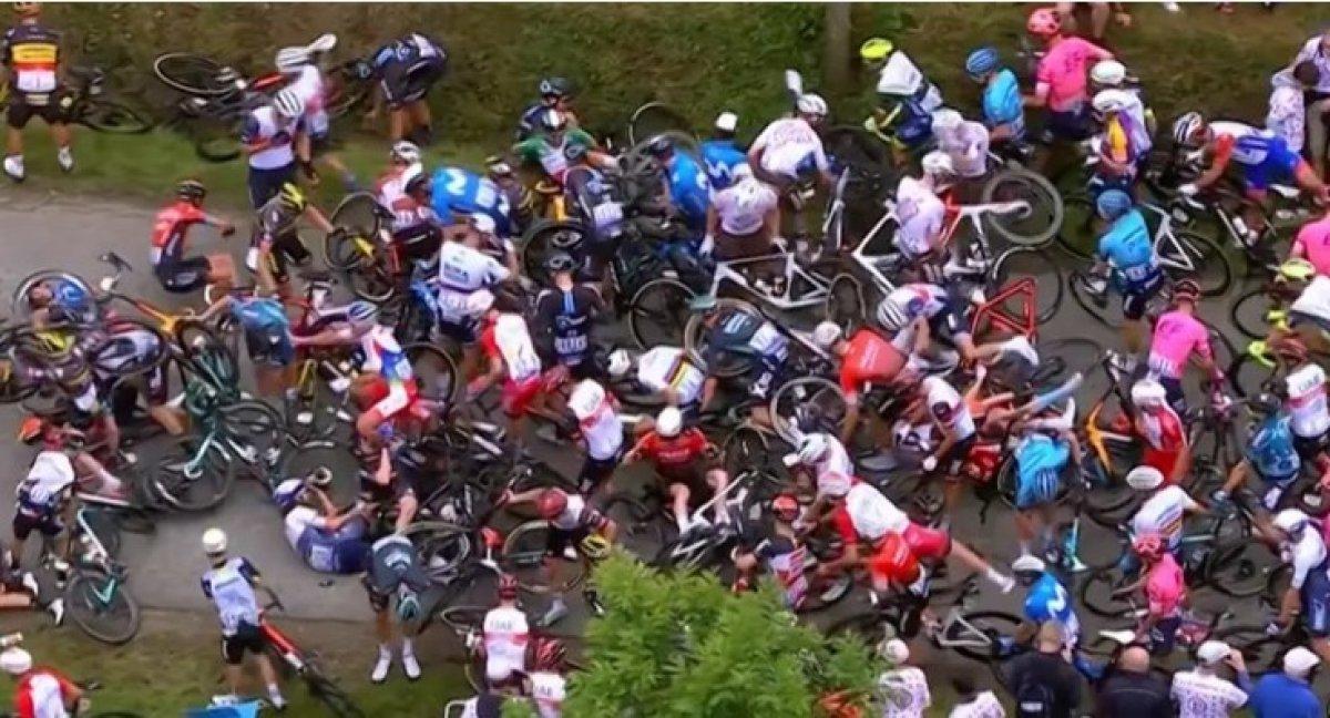 Fransa Bisiklet Turu'nda kazaya neden olan seyirci aranıyor #2