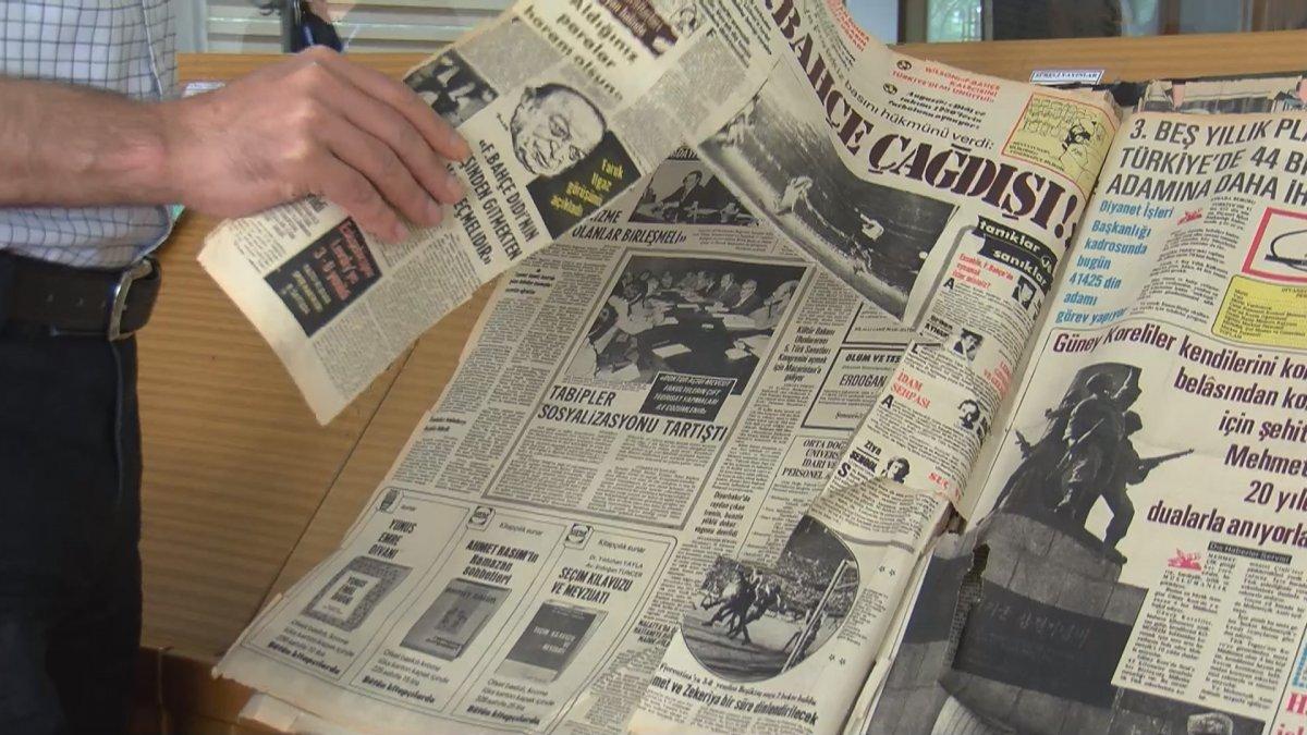 Atatürk Kitaplığı ndaki tarihi gazete ve kitap nüshalarına jiletli tahribat #7