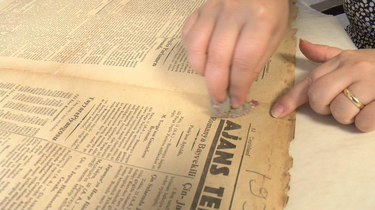 Atatürk Kitaplığı ndaki tarihi gazete ve kitap nüshalarına jiletli tahribat #6
