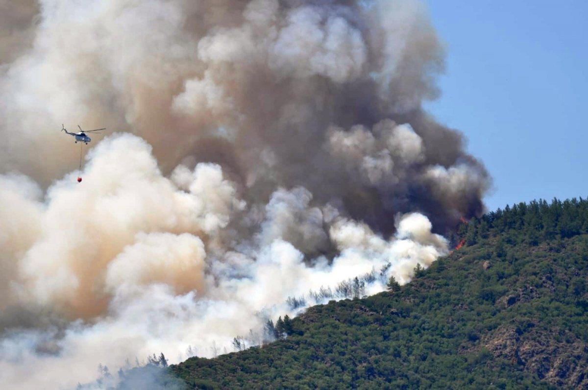 Marmaris'te peş peşe yangınlar: 1 şehit  #6