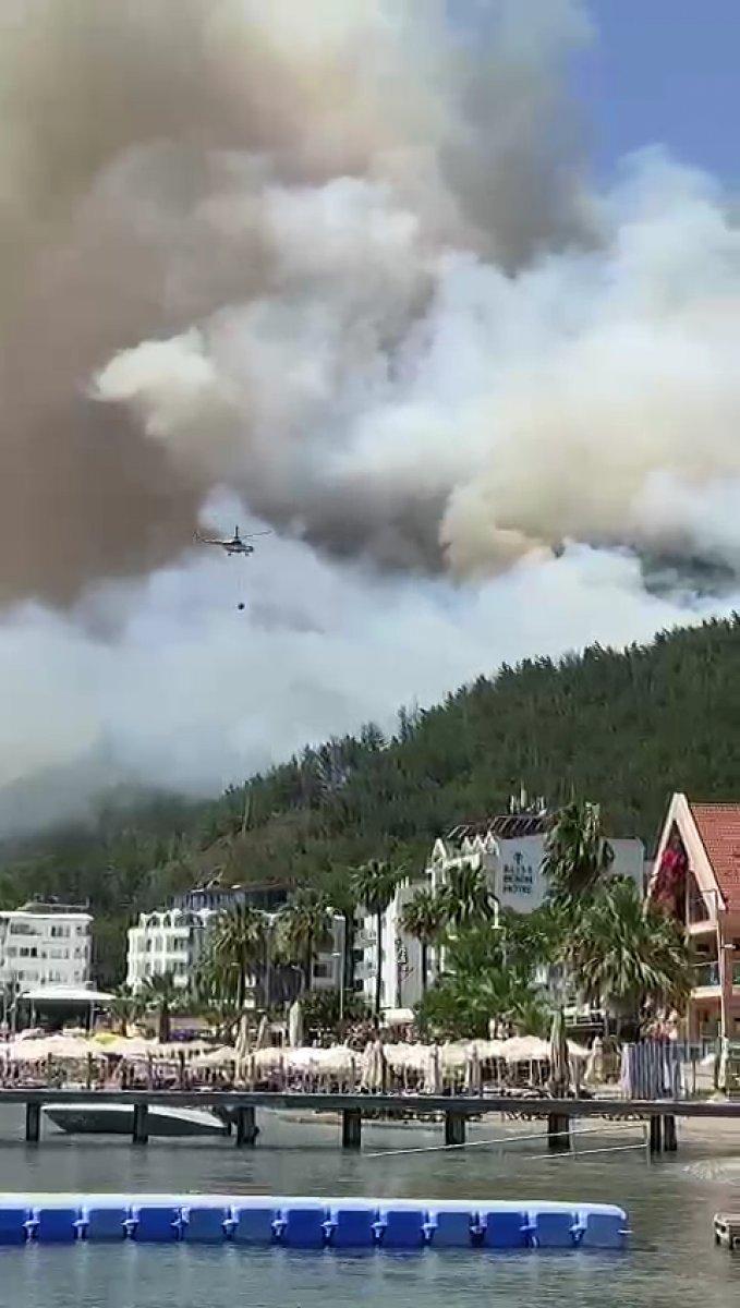 Marmaris te orman yangını #8