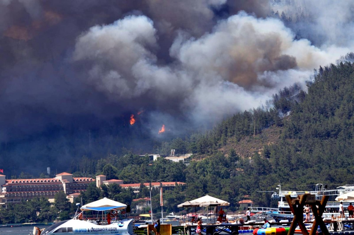 Marmaris te orman yangını #14