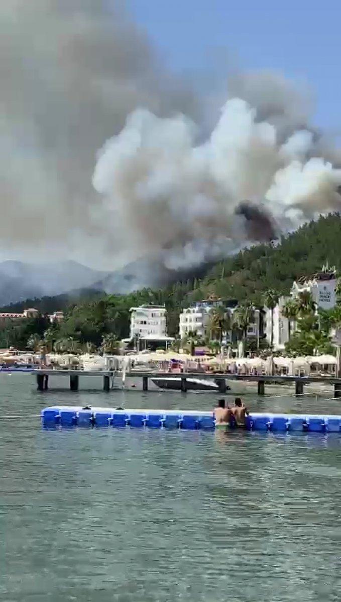 Marmaris te orman yangını #3