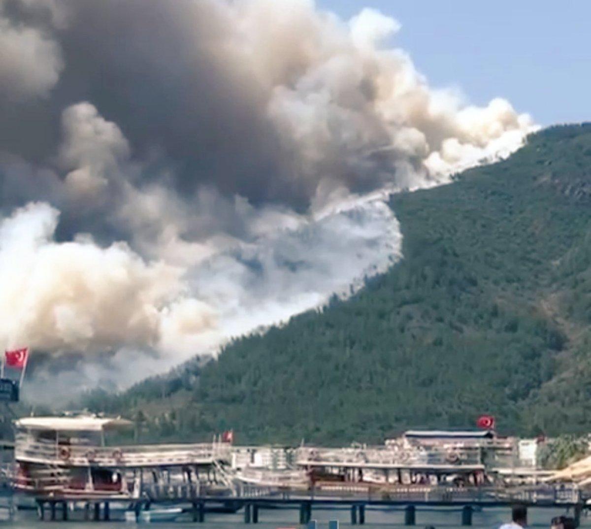 Marmaris te orman yangını #6