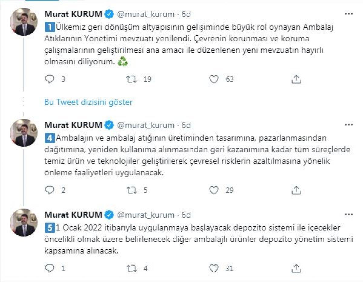 Murat Kurum'dan  ambalajlı ürün  açıklaması #2