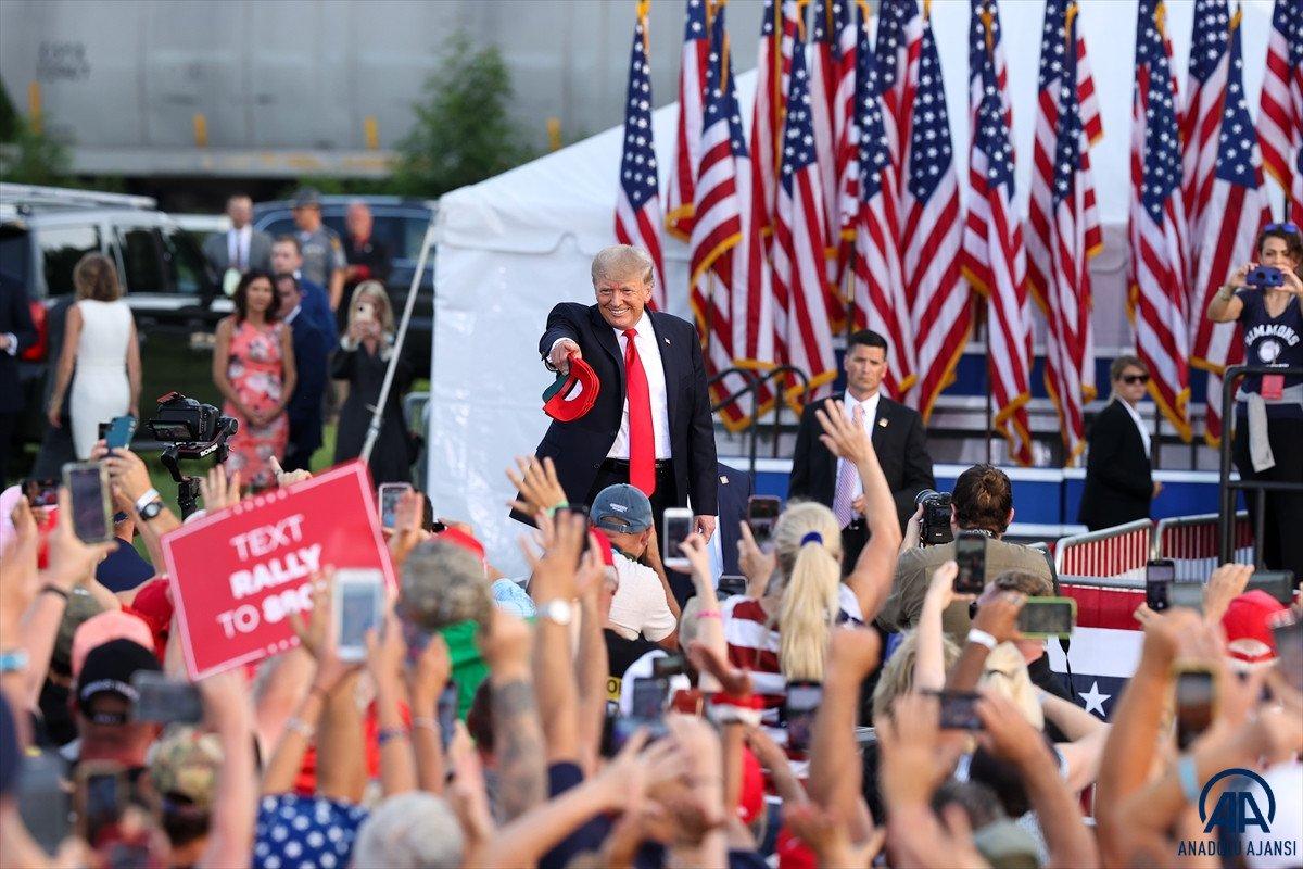 Trump aylar sonra ilk kez Ohio da miting düzenledi: Amerika yı geri alacağız #10