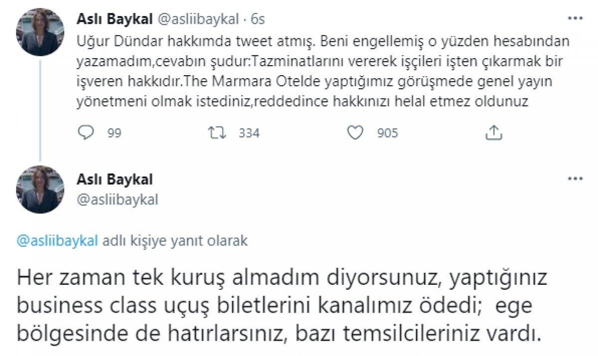 Uğur Dündar ın Halk TV ile ilgili açıklamalarına Aslı Baykal dan cevap  #1
