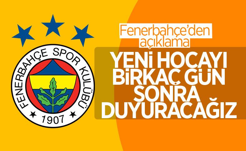 Fenerbahçe: Teknik direktörle anlaşmamıza rağmen süreç nihayete ermedi