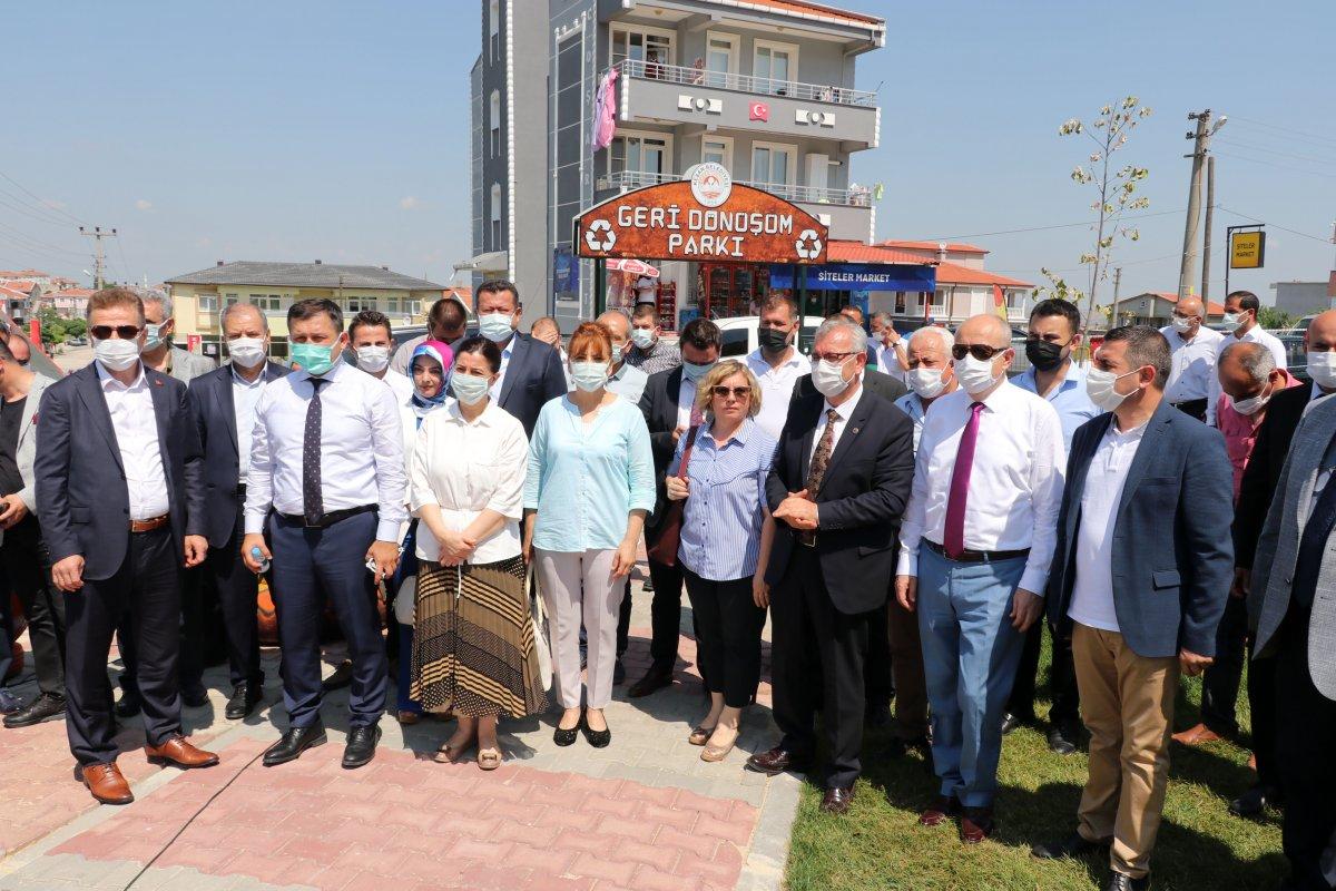Edirne deki yeni parka, Naim Süleymanoğlu heykeli yapıldı #2