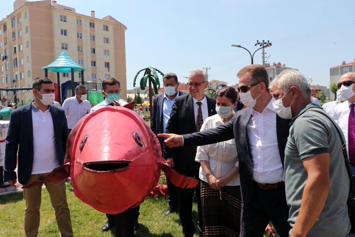 Edirne deki yeni parka, Naim Süleymanoğlu heykeli yapıldı #7