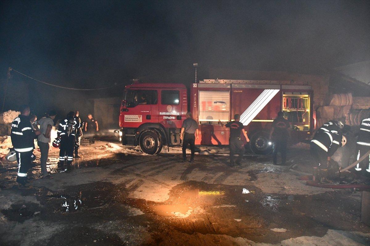Kahramanmaraş'ta fabrika yangını #1