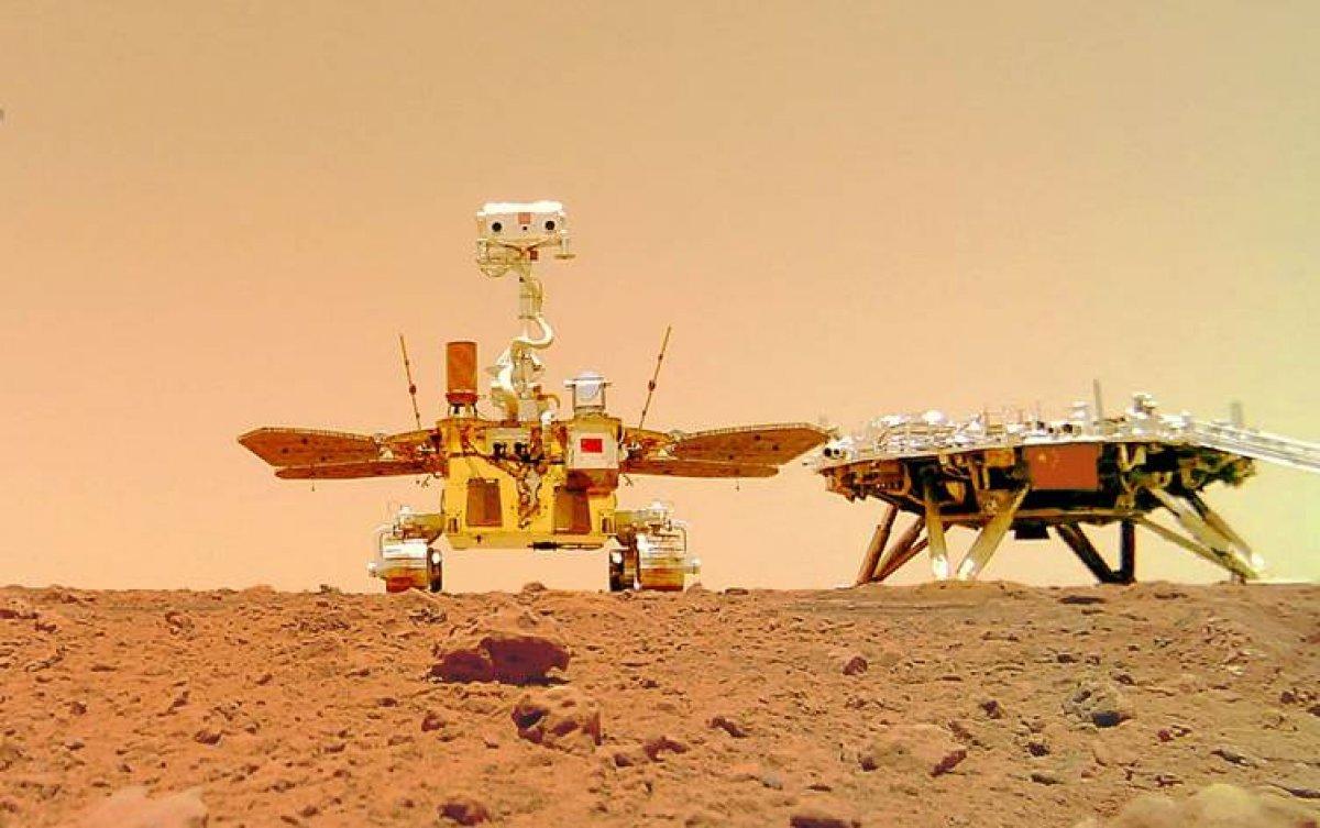Çin Zhurong uzay aracının Mars tan gönderdiği videolar paylaştı #2