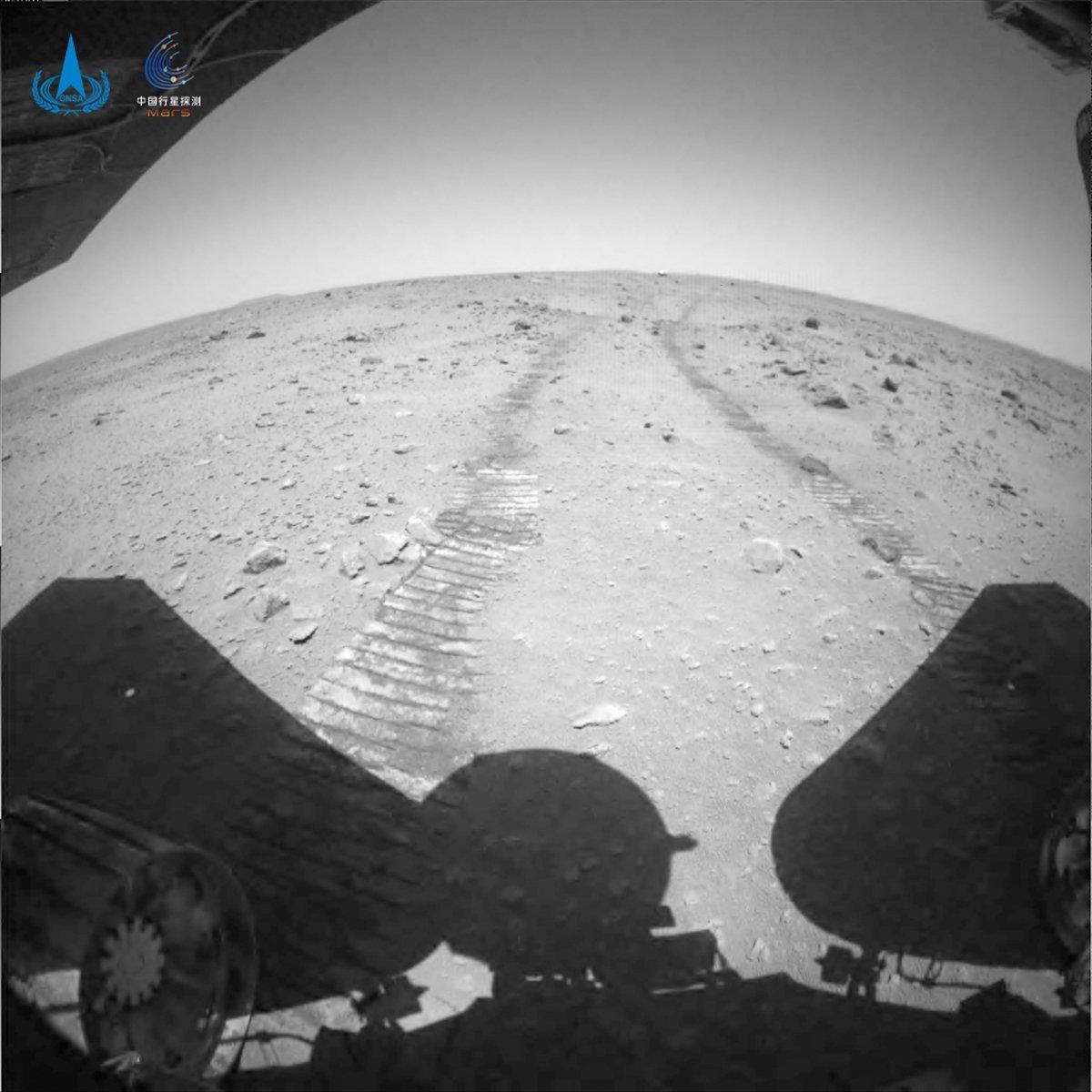 Çin Zhurong uzay aracının Mars tan gönderdiği videolar paylaştı #1