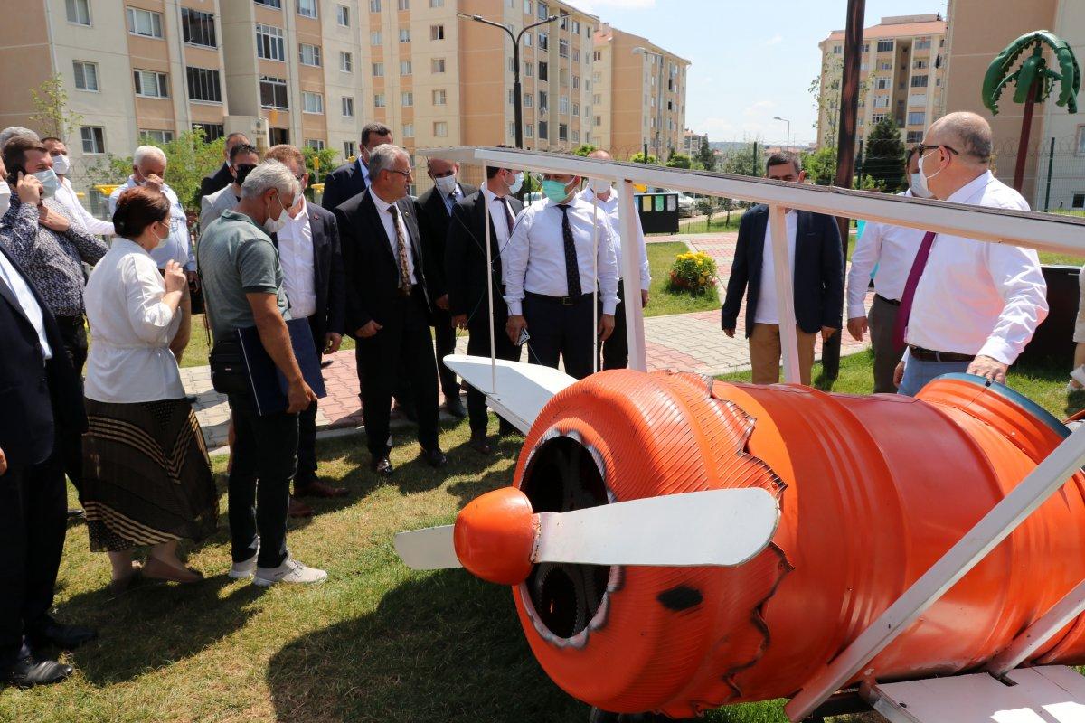 Edirne deki yeni parka, Naim Süleymanoğlu heykeli yapıldı #6
