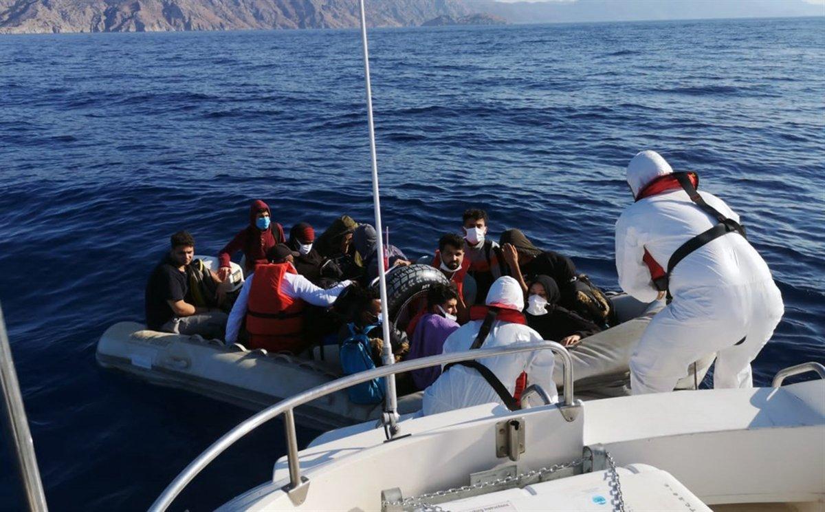 Muğla da 32 düzensiz göçmen kurtarıldı #2