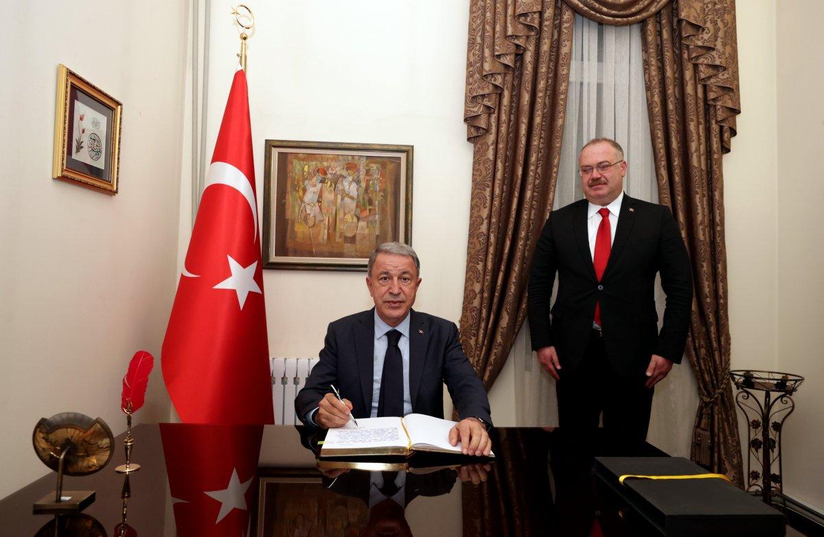Hulusi Akar, Türkiye'nin Bişkek Büyükelçiliğini ziyaret etti #1