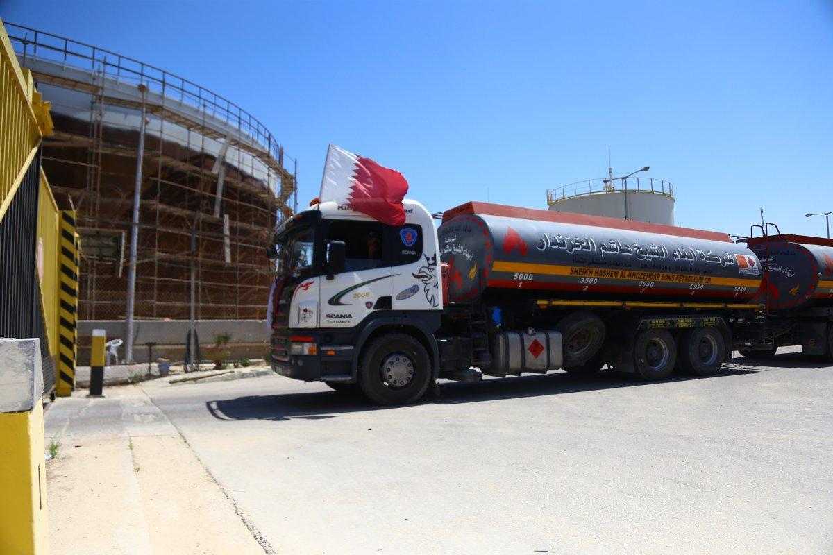 İsrail, Katar yakıtının Gazze Şeridi'ne girmesine izin verdi  #1