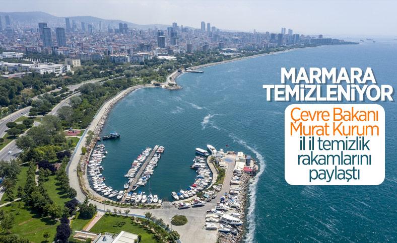 Marmara'da toplanan müsilaj miktarı 7 bin 932 metreküp oldu