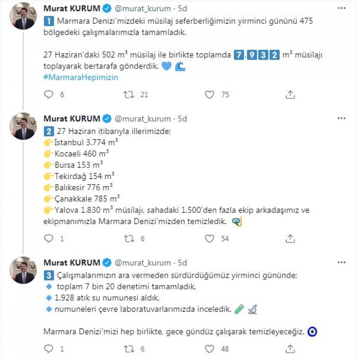 Marmara'da toplanan müsilaj miktarı 7 bin 932 metreküp oldu #10