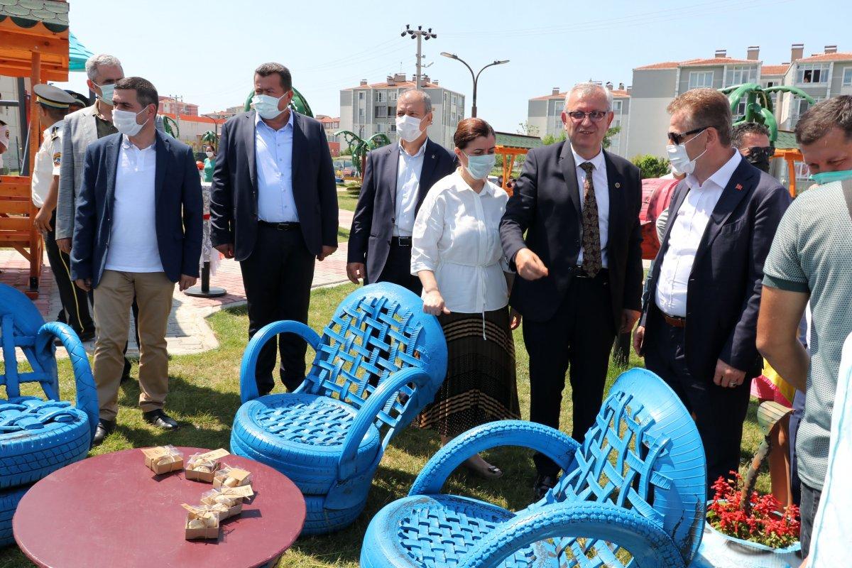 Edirne deki yeni parka, Naim Süleymanoğlu heykeli yapıldı #4