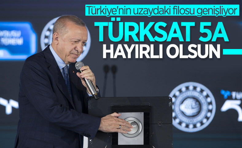 Cumhurbaşkanı Erdoğan Türksat 5A Uydusu'nu hizmete aldı
