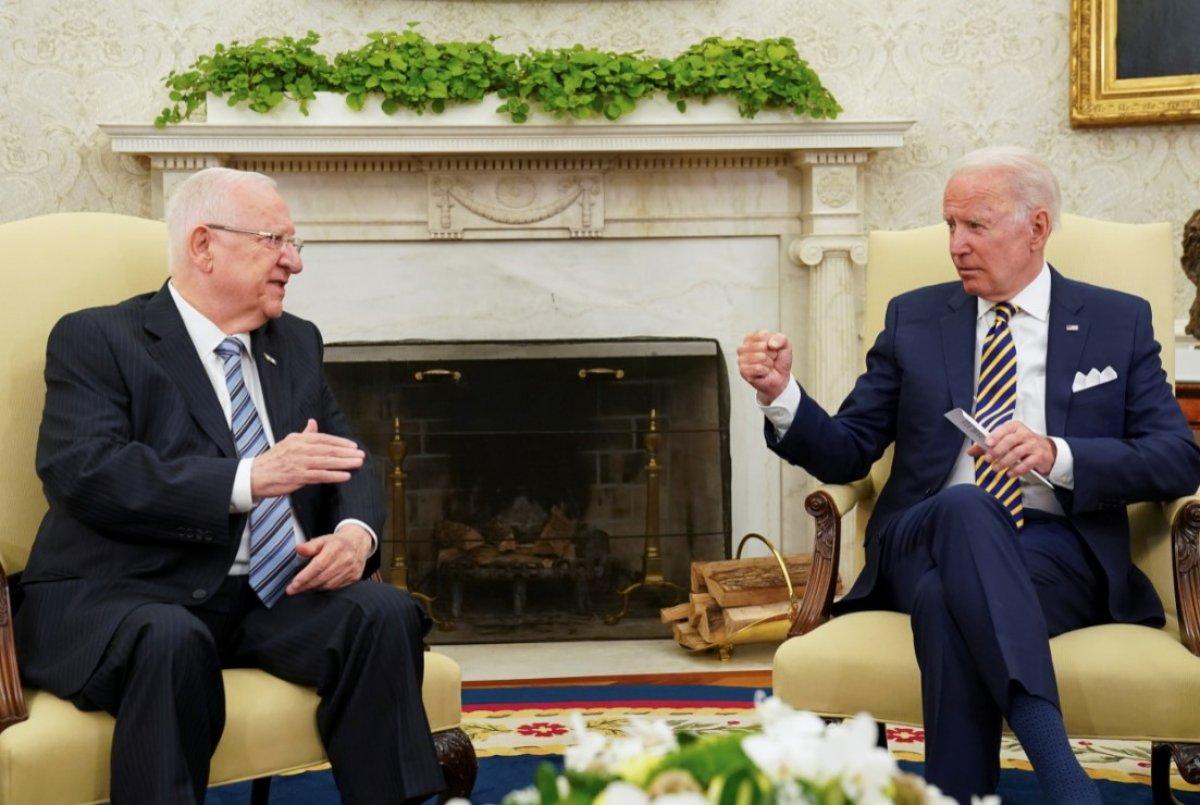 Joe Biden, İsrail Cumhurbaşkanı Rivlin ile görüştü #1
