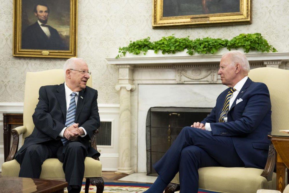 Joe Biden, İsrail Cumhurbaşkanı Rivlin ile görüştü #5