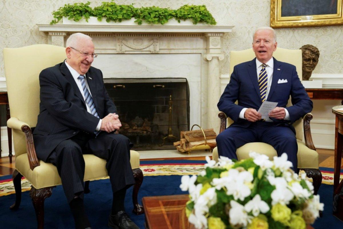 Joe Biden, İsrail Cumhurbaşkanı Rivlin ile görüştü #2