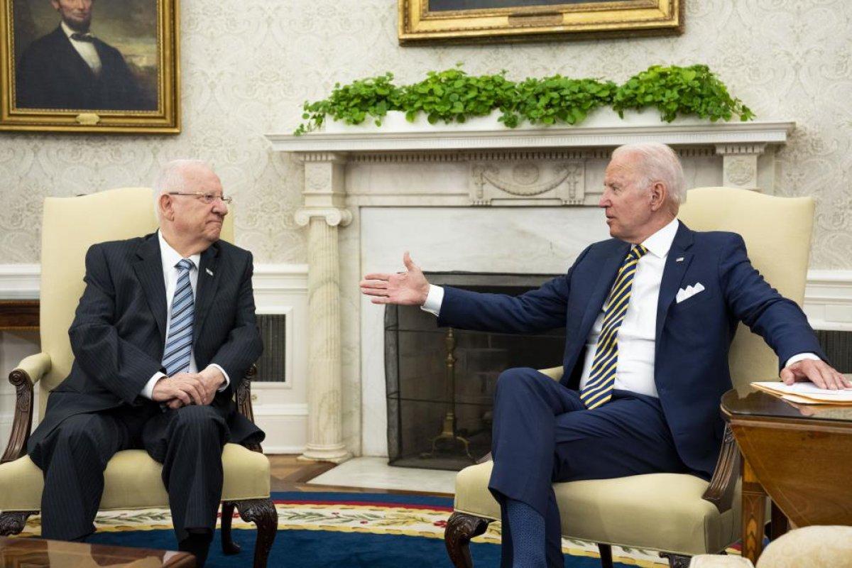 Joe Biden, İsrail Cumhurbaşkanı Rivlin ile görüştü #6